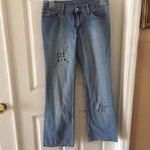 Levis 518 Boot Cut Studded Womens Blue Denim Jeans Size 9 M x 31 Embelli... - $18.46
