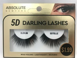 ABSOLUTE NY 5D DARLING LASHES BOLD VOLUME LIGHTWEIGHT REUSABLE ELDL08 ES... - $1.93