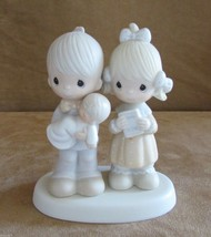 Recjoicing with You Baby Precious Moments figurine boy girl christening - $19.50