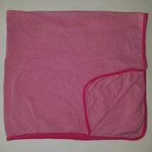 Carter's Pink White Striped Baby Blanket Lovey 100% Cotton SPOTS AS IS - $19.75