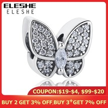 ELESHE Fit Original Pandora Charms Bracelet 925 Sterling Silver CZ Cryst... - $20.57