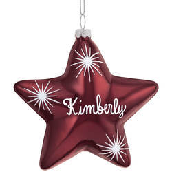Primary image for Birthstone Star Ornament-plainfeb
