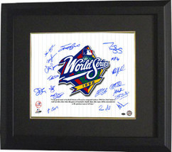 New York Yankees signed 16x20 Photo Custom Framed 1998 WS Champs Pinstri... - $248.95