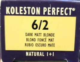 Wella Koleston Perfect Permanent Creme Haircolor 6/2 Dark Matt Blonde - $9.49