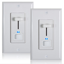 Maxxima 3-Way/Single Pole LED Dimmer 600W Indicator Light Wall Plates in... - $19.99