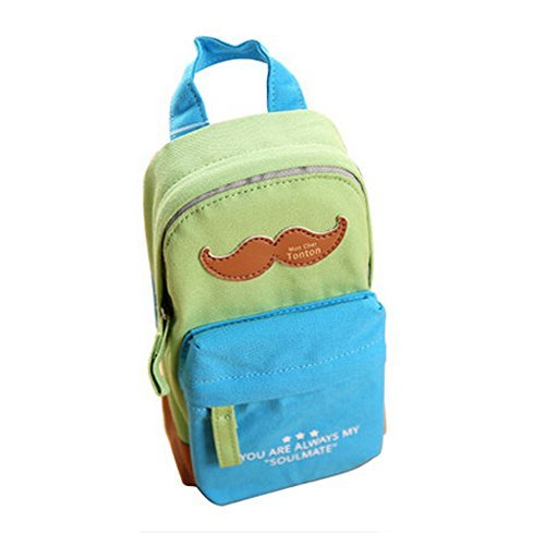 Primary image for Cute Beard Canvas Pen Holders Pen Bag Pencil Case Stationery Pen Boxes,Blue