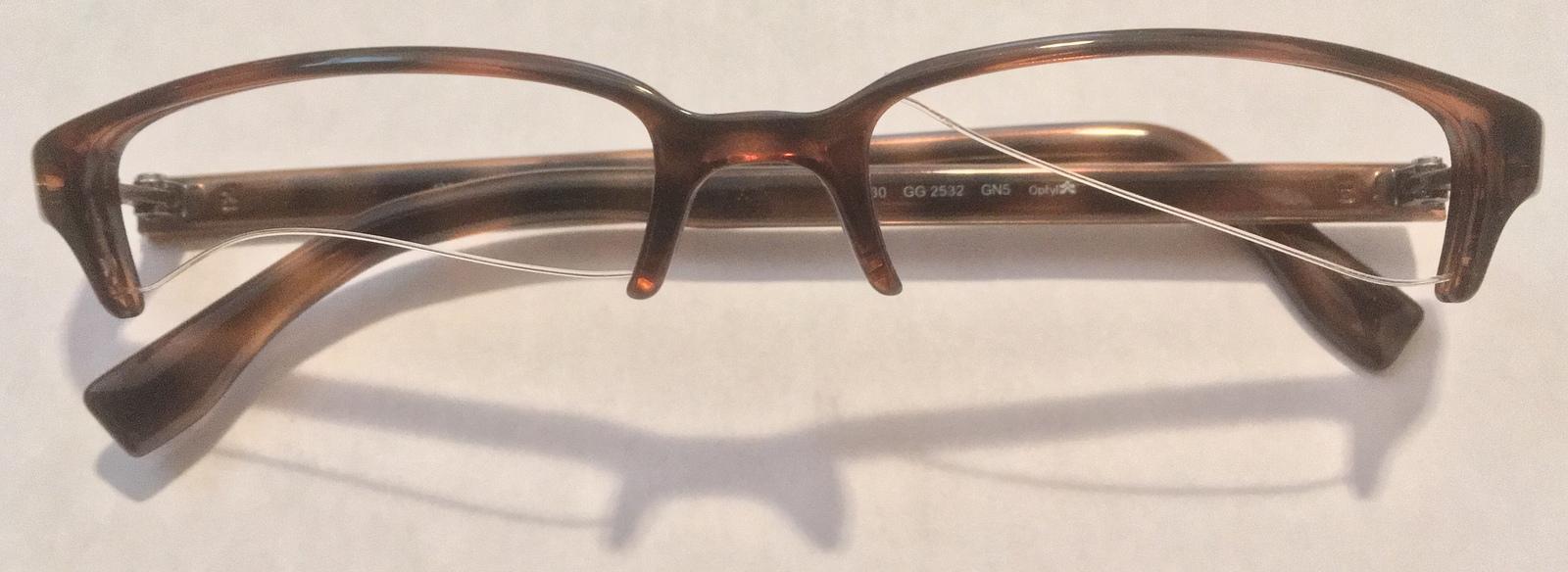 89d63f90242 Gucci G Unisex Brown Havana Eyeglasses and 50 similar items