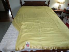 "NOS CHATHAM Soft Yellow "":MIAMI"" Rayon Cotton Wool BLANKET - 72"" x 84""  - $24.75"