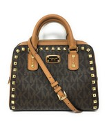 Michael Kors Sandrine Studded Small Satchel - Brown / Acorn - $498 MSRP! - $149.95