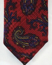 ROBERT TALBOTT BEST OF CLASS Mens Neck Tie Silk Dark Red Paisley Print N... - $118.79