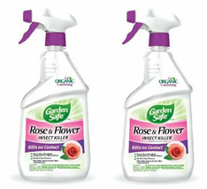 Garden Safe 10433X Rose and Flower Insect Killer, 24-Ounce Spray(2 pack) - $14.84