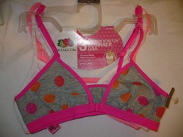 Pack of 2 FT620 Fruit of the Loom Girls Big Cotton Bralette