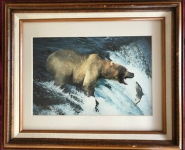 """GRIZZLY BEAR 8"""" by 12"""" color photograph signed in gold by photographer T... - $9.50"""