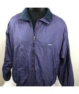Patagonia Jacket Fleece Lined Coat Men XL Full Zip Ski Mountain VTG Purple - $79.99