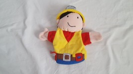 MANHATTAN TOY CO PLUSH CARPENTER BUILDER HAND PUPPET CAREERS CLEAN - $4.94