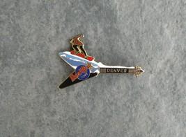 HARD ROCK CAFE Denver 1990's Snowboarder Flying V Guitar Pin - $8.82