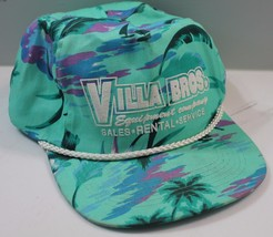 Tropical Baseball Snapback Villa Bros. Equipment Company Sales Rental Se... - $7.84