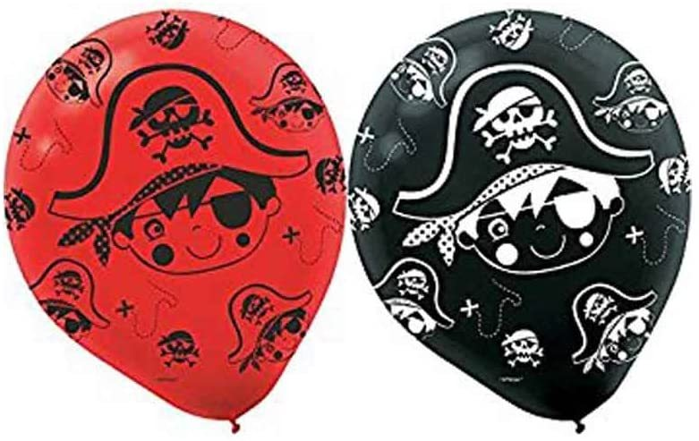 Primary image for Little Pirate Caribbean Buccaneer Kids Birthday Party Decoration Latex Balloons