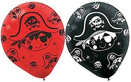 Little Pirate Caribbean Buccaneer Kids Birthday Party Decoration Latex B... - $7.17
