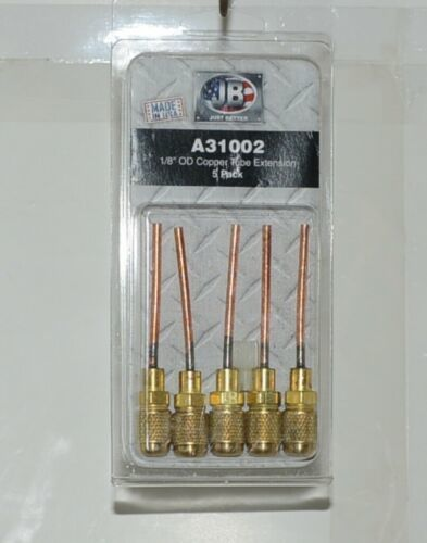 JB industries A31002 1/8 Inch OD Copper Tube Extension pack of 5