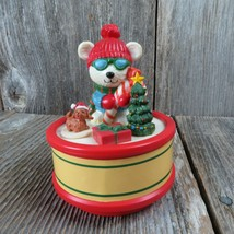 Vintage Christmas Music Box Seymour Mann Motion Musicals 1991 Polar Bear... - $49.99