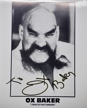 Ox Baker Autographed 8x10 B&W Photograph - 1934-2014 - WWF / Actor - WCW - $29.99