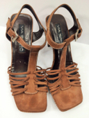 Via Spiga Pre-owned Brown Suede Strappy Italian Sandals, Sz. 7.5 MSRP $225 image 2