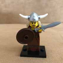 Viking Woman Lego 8831 Series 7 Collectible Minifigure complete sword shield - $10.50