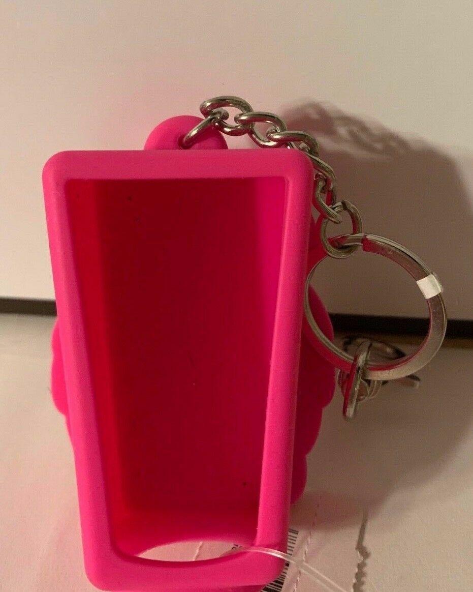 Bath Body Works Light Up Pink Owl w Eyes Older Antibacterial Gel Holder Keychain image 3