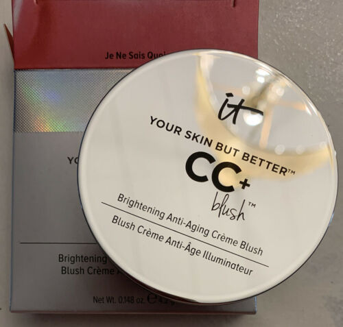 IT Cosmetics CC+ Vitality Brightening Crème Blushin Je Ne Sais QuoiShade NEW - $19.75