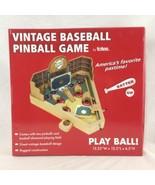 Vintage Baseball Pinball Game Miniature Pinball Machine Toy by Totes - $28.04