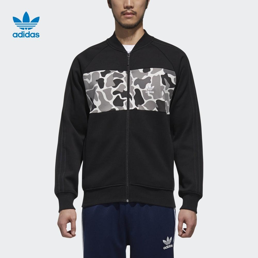 c2e36a35d87c 1. 1. Previous. New Adidas Originals 2018 Zip Hoodie Black Camo Jacket For  Men Sweater DN8035