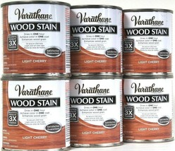 6 Cans Varathane 8 Oz Ultimate Wood Stain One Coat 266268 Light Cherry 1... - $24.99