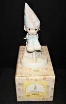 Precious Moments 1982 Nobody Perfect Figurine in Box, E-9268 Flame Trade... - $17.00