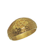 New 24K Yellow Gold Plated Celtic Dragon Evil Eye ring Pentagram Jewelry... - $26.13