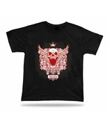 King of roar skulls fashion unisex T shirt Tee special apparel cartoon gift sale - $7.57