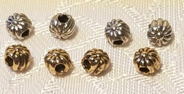 5pcs. Flowers Pewter Metal Bead 5pc Fine Cast Pewter Made in USA image 1