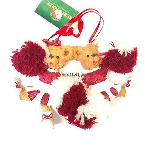 Primary image for Friends Forever Cheerleader Ornament 3.5 x 4.5 (Burgundy)