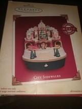 HALLMARK Keepsake 2005 CITY SIDEWALKS Music Light Motion CHRISTMAS ORNAM... - $49.45