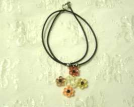 Handcrafted Four Corner Flower Necklace Paper Quill - $14.99