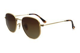 Aviator Hexagonal flat lenes Sunglasses - $31.39
