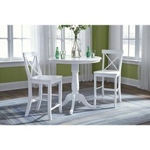 Pure White Round Counter Height Pedestal Bar Table - $6.501,97 MXN