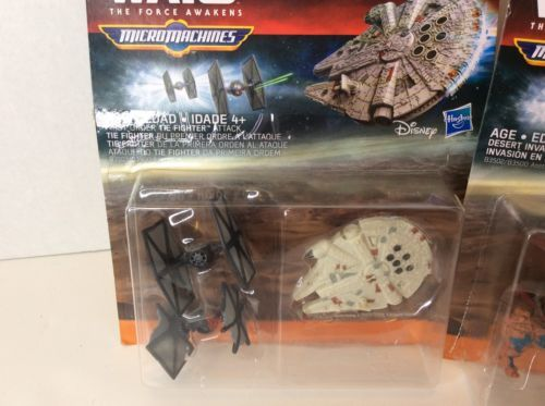 Star Wars The Force Awakens Micro Machines First Order Fighter & Desert Invasion