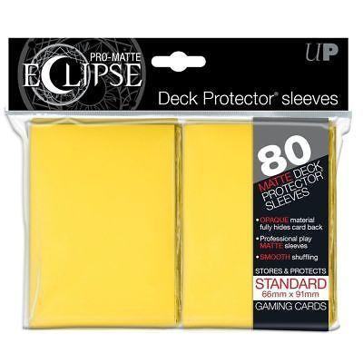 Ultra PRO Matte ECLIPSE Yellow Deck Protector Sleeves 80ct Standard ULP85112