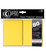 Ultra PRO Matte ECLIPSE Yellow Deck Protector Sleeves 80ct Standard ULP8... - $9.99