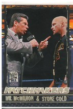 """2002 Fleer WWF All Access """"Mr. McMahon & Austin"""" Matchmakers Card (Mint)... - $4.94"""