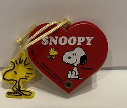 Vtg Snoopy Heart Shape Mini Address Book Woodstock Charm Peanuts Butterfly Japan - $16.82