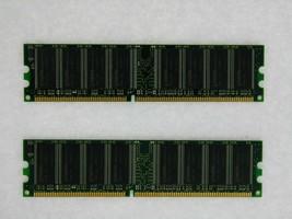 2GB 2X1GB DDR PC3200 2GB PC3200 400 Faible Densité Bureau Mémoire RAM Testé