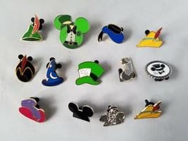 Disney Trading Pins Official Hats of Disney Theme Lot of 12 Collectible - $23.32