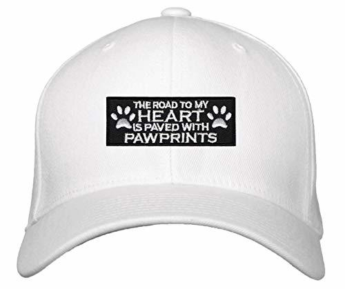 The Road To My Heart Is Paved With Pawprints Hat (White)